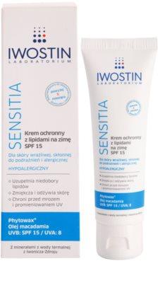 Iwostin Sensitia schützende Creme gegen Kälte und Wind mit Lipiden SPF 15 1