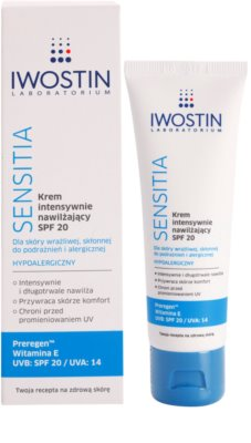 Iwostin Sensitia crema hidratante intensiva SPF 20 1