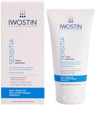 Iwostin Sensitia поживний крем для чутливої шкіри та шкіри, схільної до алергії 1