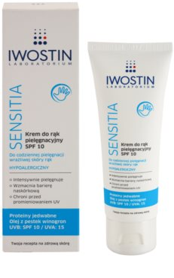 Iwostin Sensitia крем-догляд для рук SPF 10 1
