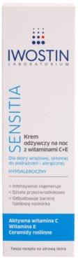 Iwostin Sensitia поживний нічний крем з вітамінами C і E для чутливої шкіри та шкіри, схільної до алергії 2