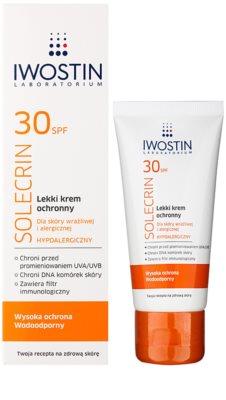 Iwostin Solercin crema protectora ligera para pieles sensibles y alérgicas SPF 30 1