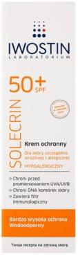 Iwostin Solercin zaščitna krema za občutljivo in alergično kožo SPF 50+ 2
