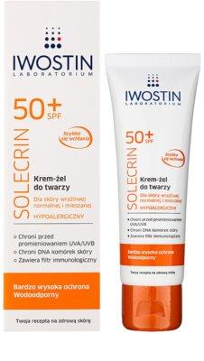 Iwostin Solercin védő gél krém arcra SPF 50+ 1