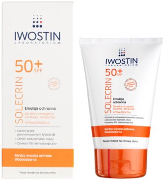 Iwostin Solercin schützende Emulsion für empfindliche bis allergene Haut SPF 50+ 1