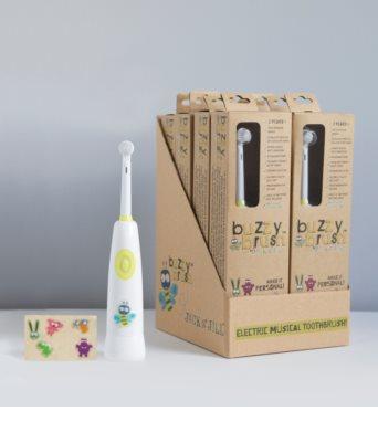 Jack N' Jill Buzzy Brush cepillo dental a pilas con música para niños suave 1