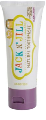 Jack N' Jill Natural természetes fogkrém gyermekeknek fekete ribizli ízesítéssel
