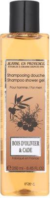 Jeanne en Provence Olive Wood & Juniper tusfürdő férfiaknak
