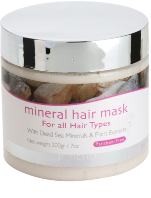 Jericho Hair Care máscara mineral de cabelo para todos os tipos de cabelos