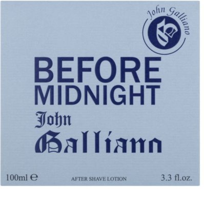 John Galliano Before Midnight after shave para homens 1