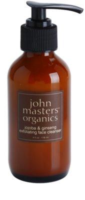 John Masters Organics All Skin Types demachiant cu efect de peenling
