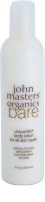 John Masters Organics Bare Unscented leite corporal sem perfume