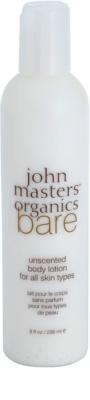 John Masters Organics Bare Unscented telové mlieko bez parfumácie