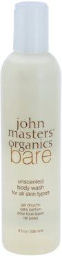John Masters Organics Bare Unscented gel de ducha sin perfume