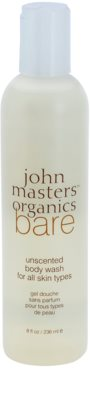 John Masters Organics Bare Unscented gel de duche sem perfume