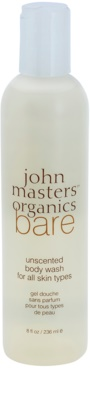 John Masters Organics Bare Unscented gel de dus fara parfum