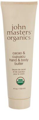 John Masters Organics Cacao & Cupuacu manteiga para mãos e corpo