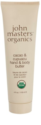 John Masters Organics Cacao & Cupuacu máslo na ruce a tělo