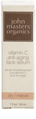 John Masters Organics Dry to Mature Skin odmładzające serum do twarzy z witaminą C 3