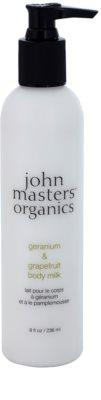 John Masters Organics Geranium & Grapefruit leite corporal