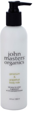 John Masters Organics Geranium & Grapefruit testápoló tej