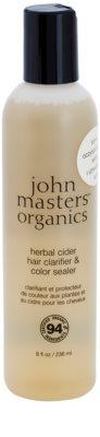 John Masters Organics Herbal Cider reinigende Haarpflege für die Fixation von Haarfarbe