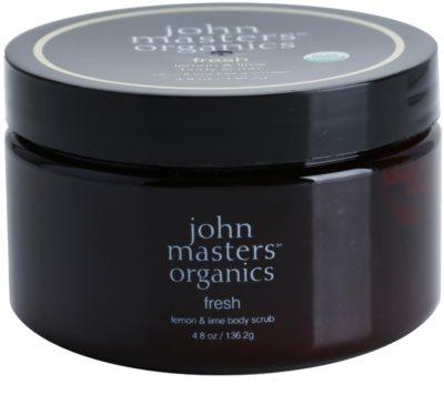 John Masters Organics Lemon & Lime Exfoliant pentru corp cu efect de improspatare. pentru piele neteda si delicata