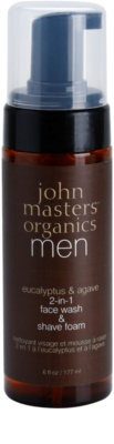 John Masters Organics Men čistilna pena za britje 2v1