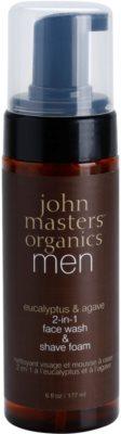 John Masters Organics Men espuma de limpeza e de barbear 2 em 1