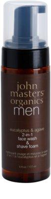 John Masters Organics Men tisztító és borotválkozó hab 2 az 1-ben