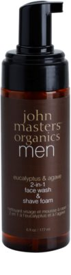 John Masters Organics Men очищуюча піна для гоління 2в1 1