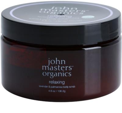 John Masters Organics Lavender & Palmarosa exfoliant pentru corp cu efect de iluminare pentru piele neteda si delicata