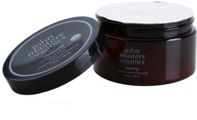 John Masters Organics Lavender & Palmarosa exfoliante corporal iluminador para dejar la piel suave y lisa 1