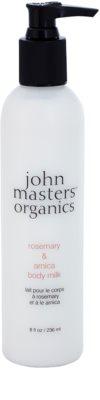 John Masters Organics Rosemary & Arnica losjon za telo za lajšanje bolečin v mišicah