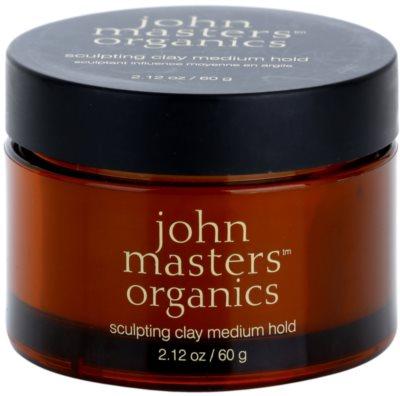 John Masters Organics Sculpting Clay Medium Hold lama modeladora  para aspeto mate