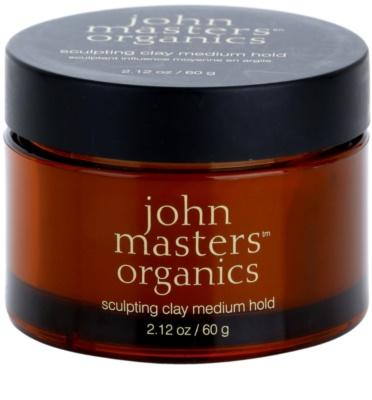 John Masters Organics Sculpting Clay Medium Hold lut modelator pentru un aspect mat