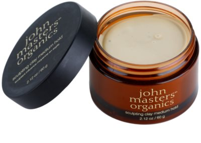 John Masters Organics Sculpting Clay Medium Hold pasta modelująca matujące 1