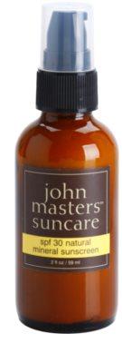 John Masters Organics Sun Care schützende Gesichtscreme mit Mineralien SPF 30