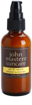 John Masters Organics Sun Care mineralny krem ochronny do twarzy SPF 30 1
