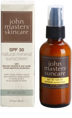 John Masters Organics Sun Care mineralny krem ochronny do twarzy SPF 30 2