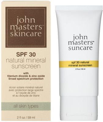 John Masters Organics Sun Care protecție solară cu minerale si cu filtre UV SPF 30 1