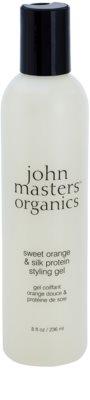 John Masters Organics Sweet Orange & Silk Protein gel para dar definición al peinado