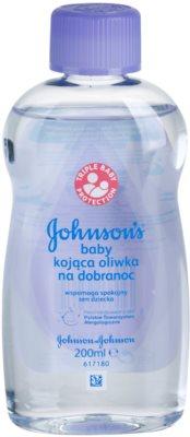 Johnson's Baby Care aceite corporal para bebés para un sueño tranquilo