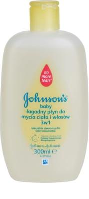 Johnson's Baby Wash and Bath gel de duș delicat pentru copii 3 in 1