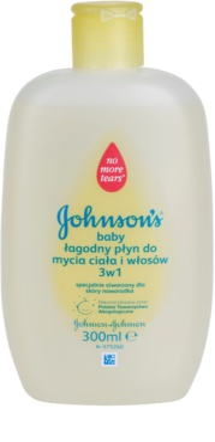 Johnson's Baby Wash and Bath gyengéd gyermek tusfürdő gél 3 az 1-ben