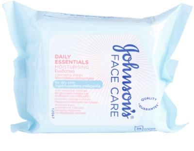 Johnson's Face Care Moisturising очищуючі серветки для обличчя