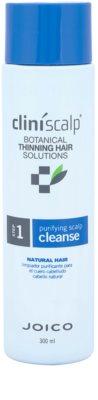 Joico CliniScalp Botanical Solutions champú limpiador anticaída para cabello de color natural