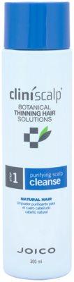 Joico CliniScalp Botanical Solutions tisztító sampon a természetes, ritkuló hajra