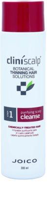 Joico CliniScalp Botanical Solutions champú anticaída para cabello químicamente tratado