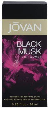 Jovan Black Musk Eau de Cologne para mulheres 4